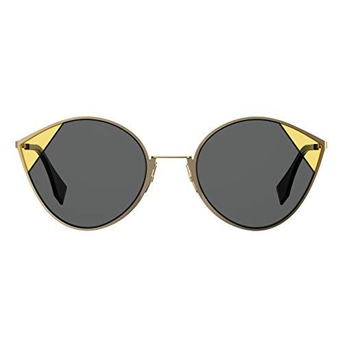 Fendi Occhiali da Sole Cut Eye FF 0341/S Gold Black/Grey Donna