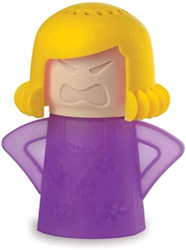 Abnaok Mikrowellen-Reiniger, Angry Mama Mikrowellen-Ofen-Dampfreiniger, Küchenreiniger, leicht zu reinigen, desinfiziert mit Essig und Wasser (lila)