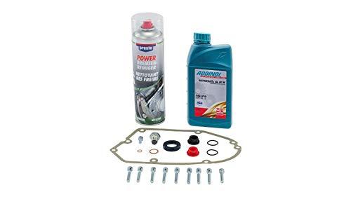 Ölwechsel Set + Schrauben, Bremsenreiniger und 1 Liter Getriebeöl für S51, S53, S70, S83, MS50, SR50, SR80, KR51/2