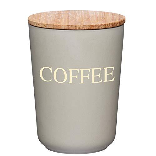 Kitchencraft Natural elementos de fibra de bambú hermético recipiente para café, 10,5x 14,5cm (4