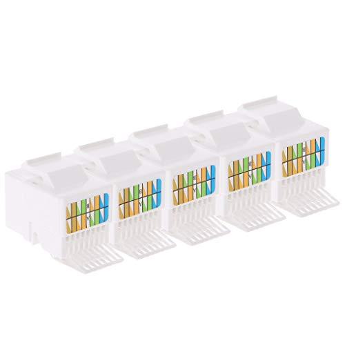 5 stuks RJ45-bus Cat6-netwerk Ethernet-verbindingsadapter zonder gereedschap module