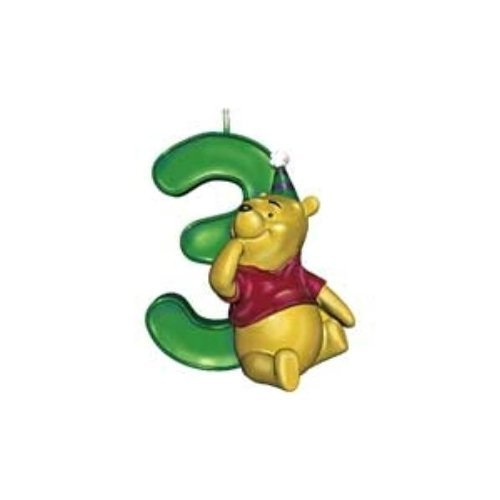 Winnie the Pooh Number 3 Candle