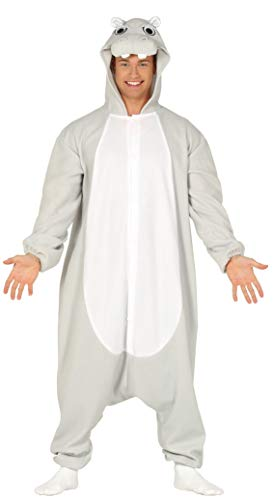Guirca Nilpferd Kostüm für Herren - Größe M-L - Fasching Karneval, Größe:M