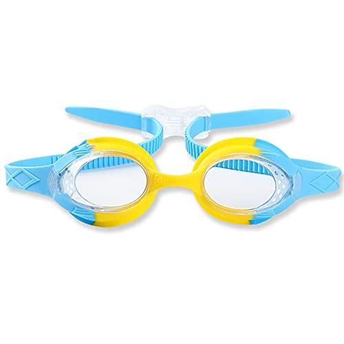 Gafas de Buceo para Niños, Gafas Piscina Niños, Gafas Natacion Niño & Niña, Gafas Natacion Divertido Diseño Estilo Pez Antivaho y Anti-ultravioleta con Tapones Para Los Oídos & Pinzas Para La Nariz