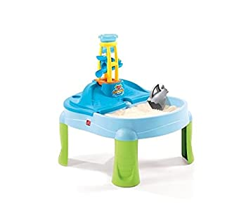 Step2 Splash N Scoop Bay Sand and Water Table Multicolor Deluxe Pack  Includes 7 Piece Accessory Set