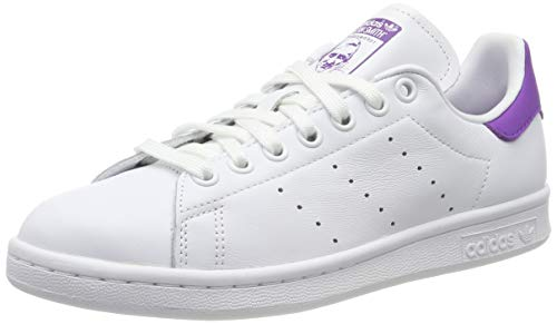 adidas Damen Stan Smith Sneaker, Weiß (Footwear White/Active Purple/Footwear White 0), 40 EU