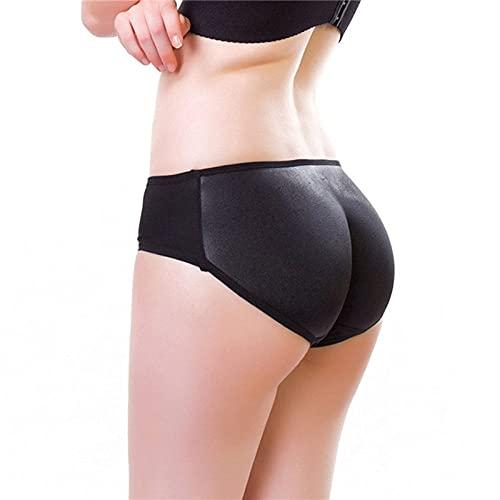 Mujer Braguitas Moldeadoras, Moda De Gran Tamaño Big Ass Pads Hip Enhancer Sexy Butt Lifter Women Dress Shapewear Ropa Interior Acolchada Slim Waist Trainer Body Shaper Control Panties,Negro,S