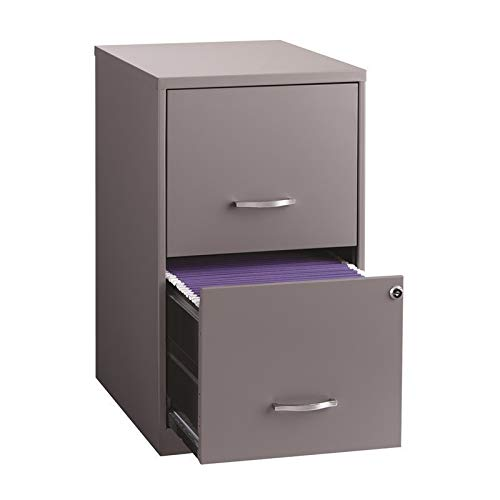 Space Solutions Home File Cabinet, 18', Platinum Gray