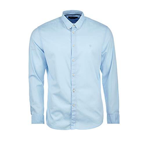 Marc O'Polo Herren B21766842156 Freizeithemd, Blau (Airblue 806), Large (Herstellergröße: L)