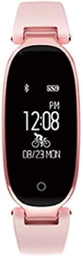 Smart Band Monitor de ritmo cardíaco Muñeca Smart Wristband Fitness Tracker Wear Pulsera Negro/Oro Negro-Rosa