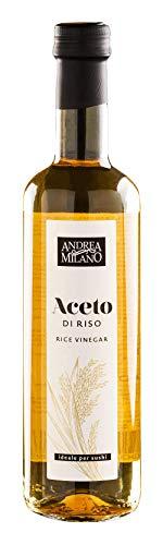 Aceto di Riso Andrea Milano 500 ml -Prodotto in Italia- Ideale per sushi