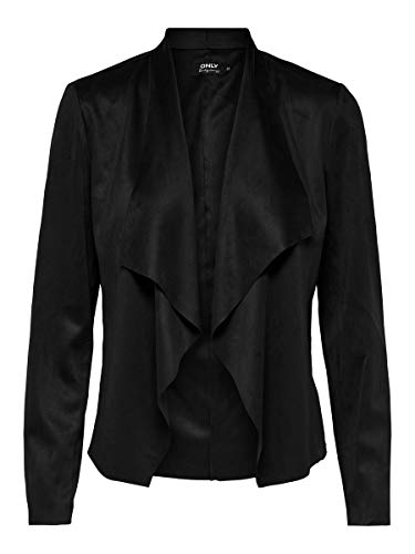 ONLY Damen ONLFLEUR Faux Suede Jacket CC OTW Jacke, Black, 34
