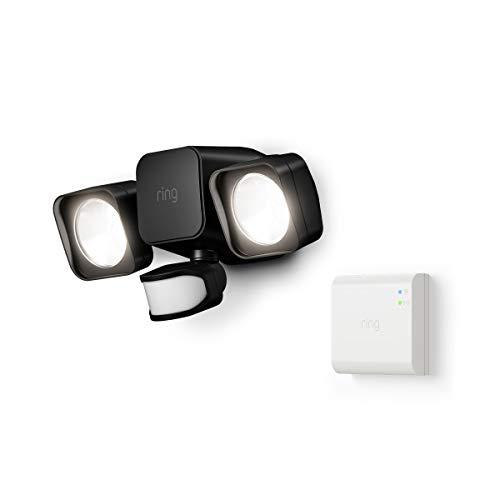 Ring Smart Lighting – Floodlight, Battery-Powered, Outdoor Motion-Sensor Security Light, Black (Starter Kit)