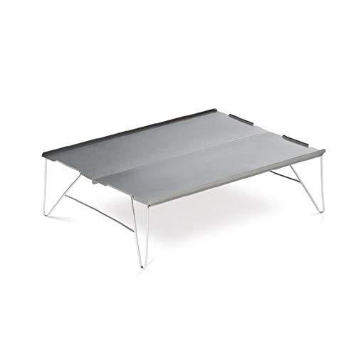 ZYCX123 Mini Folding Camping Tisch Tragbare Aluminiumlegierung im Freien Schreibtisch für Picknick BBQ Grau