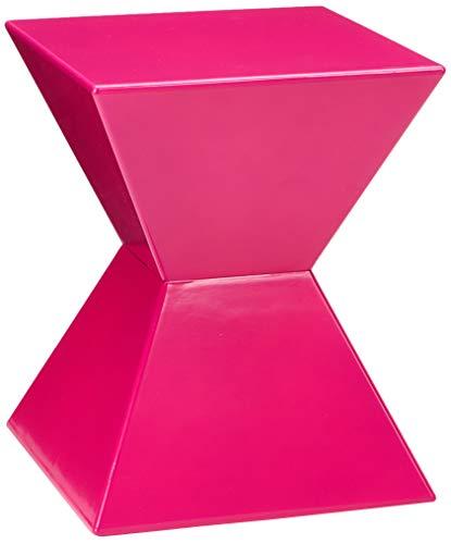 HAKU meubels bijzettafel van gegoten kunststof, hoogglans gelakt 35 x 35 x 43 cm roze