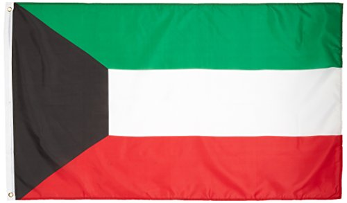 US Flag Store Kuwait 3ft x 5ft Printed Polyester Flag