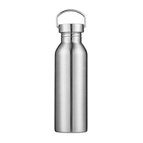 BESPORTBLE Isolierte Edelstahl Wasserflasche Vakuum Thermotasse Kolben Wasserkocher für Outdoor- Sport Camping Camping Wandern Radfahren Reiten Silber 750Ml