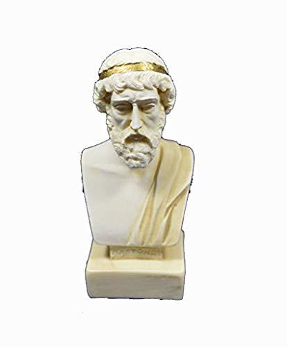 Plato Büste Statue Antike Griechische Philosoph Alter Skulptur