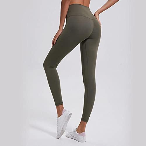 ArcherWlh Leggings Push Up Vita Alta Palestra,Pantaloni Yoga per Donne Leggings Femminili Yoga Pantaloni Jegging Patchwork-Army Green_M.