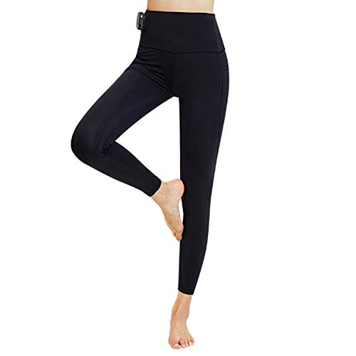 Shubiao Leggings de cintura alta para mujer, pantalones de compresión inteligentes para gimnasio, ciclismo, yoga, correr, control de aplicación de fitness diario