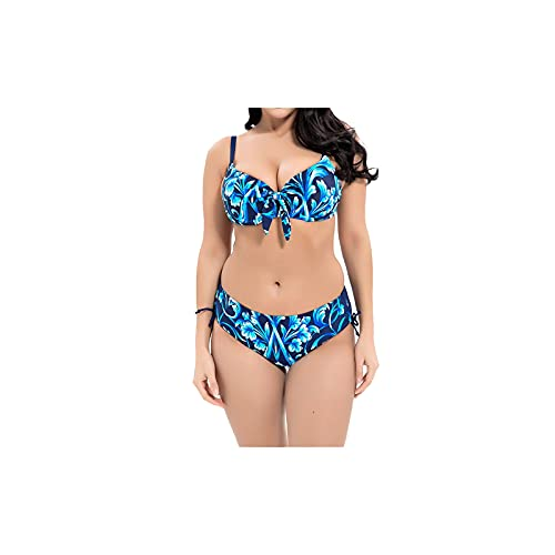 Kfhfhsdgsansyz Bañadores Mujer, Talla Grande Bikini Traje de baño Mujer Push Up Swimwear Impresión Floral Biquini Bañado Traje de baño de Gran tamaño Traje de baño de Grasa (Color : 4, Size : 5XL)