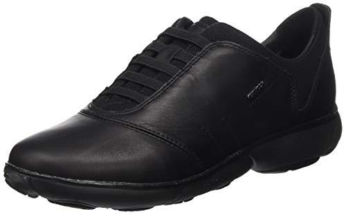 Geox Damen D Nebula C Sneaker, Black, 39 EU