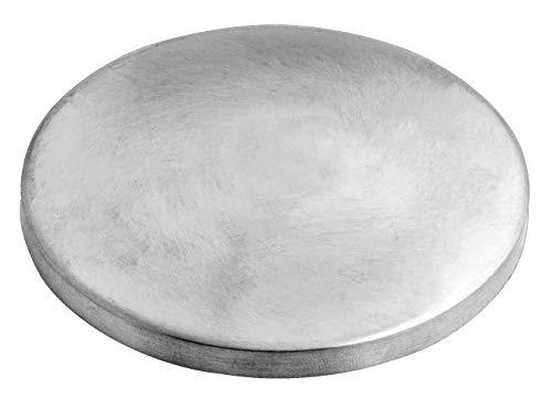 Edelstahl Ronde V2A 70,0 x 5,0 mm einseitig geschliffen Kappe Deckel V2A Wand Geländer Ronden Handlauf VA