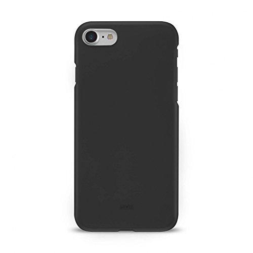 Artwizz Rubber Clip Handyhülle geeignet für [iPhone SE (2020) / 8 / 7] - Schlanke Schutzhülle mit Soft-Touch-Beschichtung - Schwarz