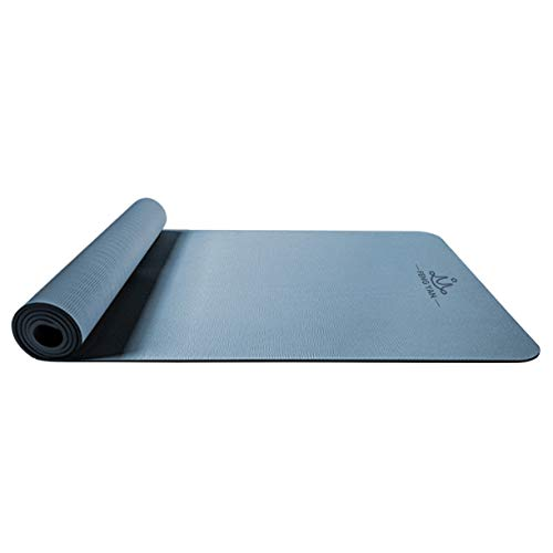 pridesong Anti-Rutsch-TPE-Yogamatte verdickt verbreitert Langversion Anfänger Fitness-Matte Eisblau 185 x 68 x 6 cm
