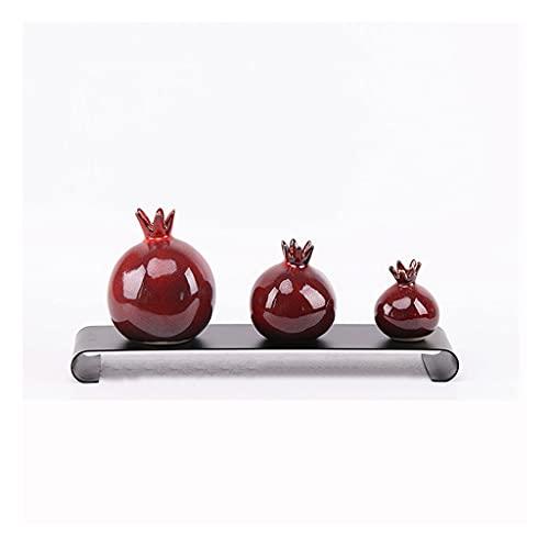 Hong Yi Fei-Shop dekoracje biurkowe granat ceramiczny wazon salon dom gabinet dekoracja nowoczesna minimalistyczna czerwony mały wazon dekoracja domu ozdoby