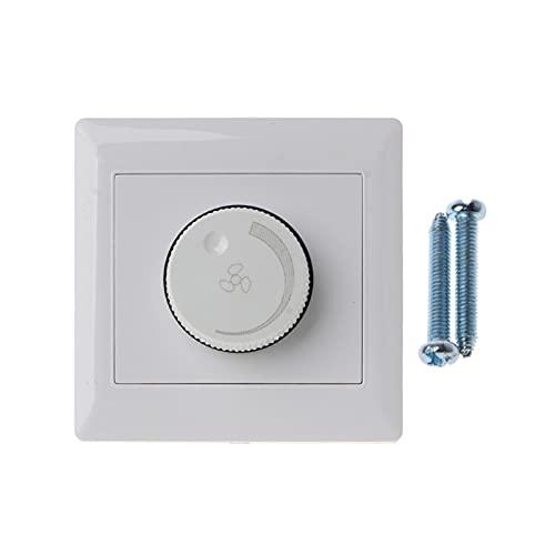 QWXZ Interruptor de Control Interruptor de Control de la Velocidad del Control de la Velocidad del Ventilador de Techo de 220V Interruptor del Interruptor de la Pared Ahorro de energía y Estable