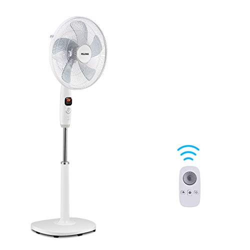 PELONIS PFS40D8AWW Silent Turbo Standing Adjustable Fan, Powerful Quiet Speed,...