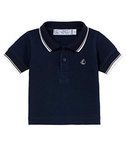 Petit Bateau Petit Bateau Baby - Jungen Poloshirt Polo MC_4737004, Blau (Smoking 04), 86 (Herstellergröße: 18M/81cm)