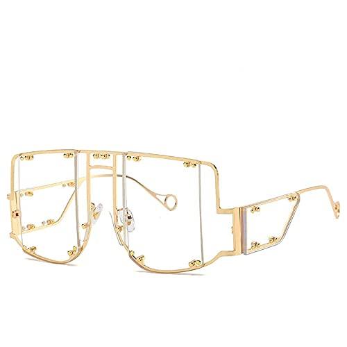 AMFG Gafas de sol de punk Siameses Personalidad europea y estadounidense Remache Gafas de sol Mujer Gafas de sol Summer SunScreen Viajes al aire libre (Color : J)