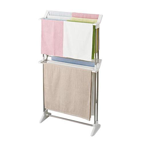 JSMY Toallero de baño de pie sin Perforaciones,Inodoro decoración de baño tendedero Blanco,Estante de Almacenamiento de Cocina,Accesorios de Hardware para Muebles