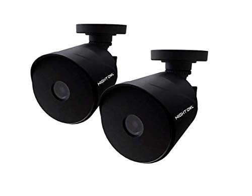 (2 Pack) Night Owl 1080p HD Wired Bullet Black Cameras DP2 Series