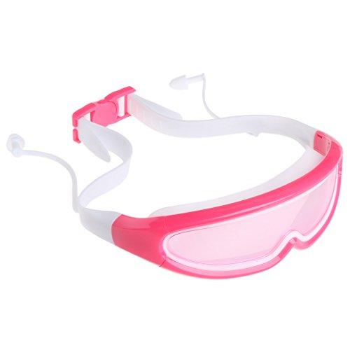 Junlinto Anti Mist Kinderen Zwembril Jongens Oogkleding Waterdichte Zwembril Oordopjes Roze