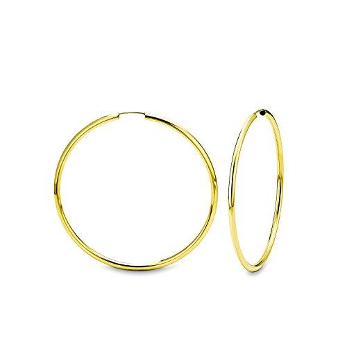 amor Damen-Creolen Ohrringe Basic 48 mm 333 gelbgold glänzend