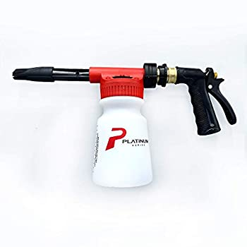 Platinum Series Car Wash Foam Sprayer for Garden Hose Foaming Nozzle Spray Gun Soap Cannon with Thick Suds Auto Detailing and Cleaning Accessories