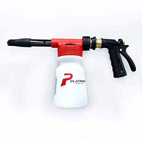 Platinum Series Car Wash Foam Sprayer for Garden Hose, Foaming Nozzle Spray Gun Soap Cannon with Thick Suds, Auto Detailing and Cleaning Accessories