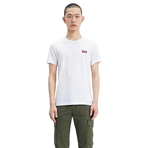 Levi's 2Pk Crewneck Graphic Camiseta, 2 Pack Hm White/Mid Tone Grey Heather, XXL para Hombre