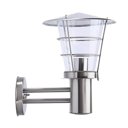 GPWDSN buitenwandlamp, led, buitenverlichting, roestvrij staal, zilverkleurig, voor tuin, terras, garage, erf