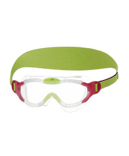 Speedo Unisex - Kinder Schwimmbrille Junior Sea Squad, clear/pink, one size, 8-087638028