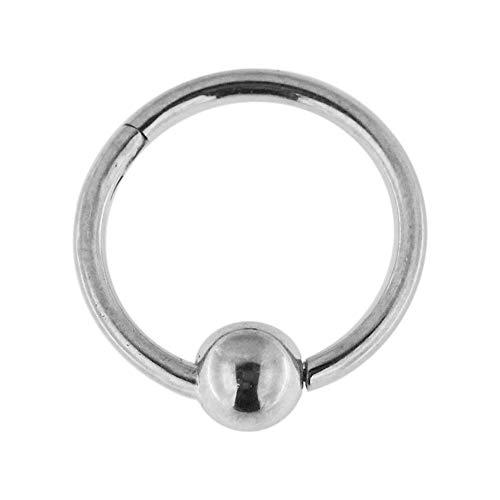 16 gauge 316L chirurgisch staal clicker inklapbaar bead ring piercingsieraad