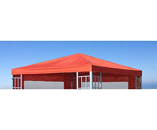 GRASEKAMP Qualität seit 1972 48407 GRASEKAMP Quality Since 1972 Roof for Aluminium Look Gazebo 3 x 3 m Terracotta Tarpaulin Replacement Cover, Orange, 300x300 cm