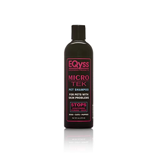 EQyss Micro-Tek Pet Shampoo (16 Ounce) - Stops Scratching, Itching, Biting, or Licking Hot Spots