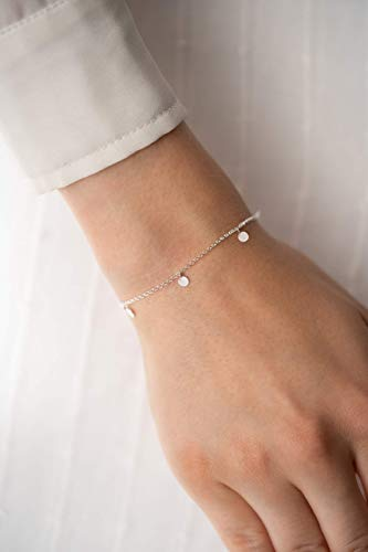 Schmuck Armkette mit kleinen Plättchen 925 silber