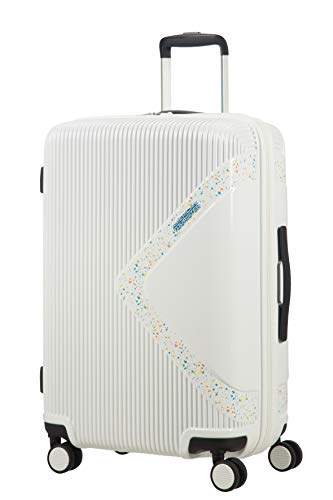 American Tourister Modern Dream Spinner Maleta expandible, 68.5 cm, 81 L, Blanco