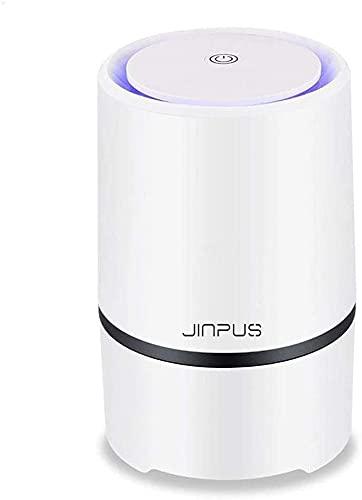 GXT Purificador de aire limpiador de aire para el hogar con filtro HEPA verdadero, purificadores de aire portátiles, ionizador de aire, elimina el polvo, polen, humo, olores con cable USB de 5