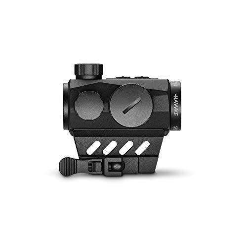 Hawke Mikroreflexvisier 1x25 und 4 MOA Zielpunkt Rotpunktvisier, schwarz, M